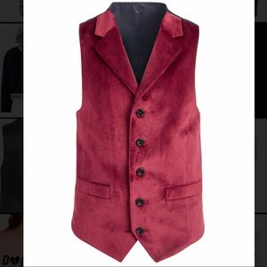 Boys Ralph Lauren Red Velvet Vest